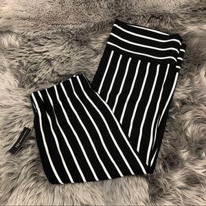 INC   Women's Striped Cropped Pants   Size SM